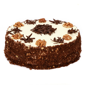 Šokolādes valriekstu torte
